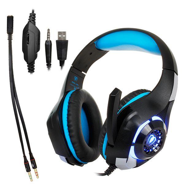 Bexcellent GM1 Gaming Kopfhörer Beste cesque Computer Deep Bass Game Kopfhörer Headsets mit Mic LED-Licht für PC Gamer