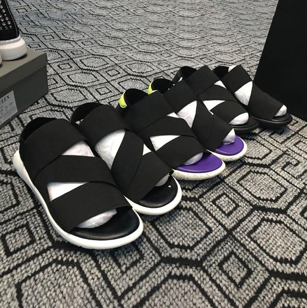 Nuevo Bashyo Y-3 QASA Sandalias Hombres calientes Mujeres negro blanco azul Antideslizante Zapatillas de deporte de secado rápido Zapatillas de deporte de playa de agua suave