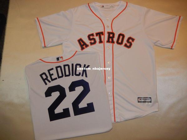 Cheap custom JOSH REDDICK Baseball Jersey WHITE New Stitched Customize any name number MEN WOMEN BASEBALL JERSEY XS-5XL