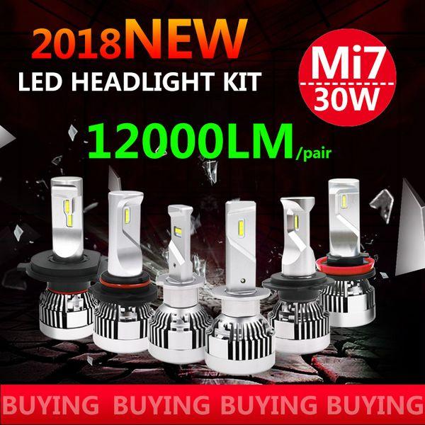 Mini Size New H4 H7 H11 9005 9006 LED 60W 12000lm ZES chip Car LED Headlight Kit Hi-LO Dual Beam 6000K DRL Fog Light Bulbs