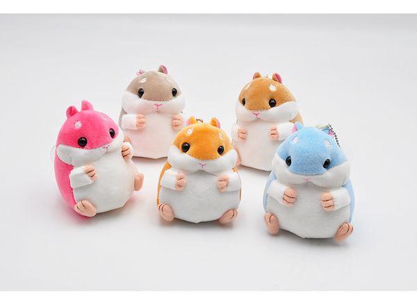 Lovely Color Hamster Stuffed Plush Animal Kids Child Toy Hamster Doll Plush Toys Key Backpack Mobile Phone Pendant Dolls Wholesale