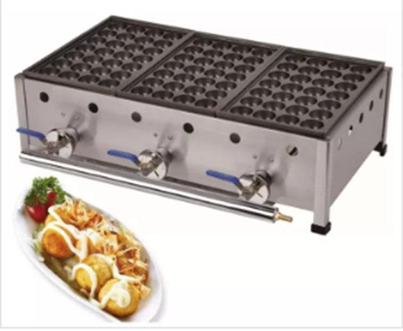 Commercial u e lpg ga japane e octopu fi h ball takoyaki maker machine indu trial ga takoyaki machine llfa