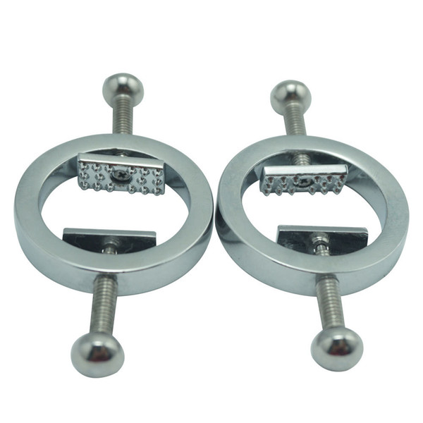 New female Stainless Steel adjustable torture play Clamps metal Nipple clips breast BDSM Bondage Restraint Fetish sex toy C18112701