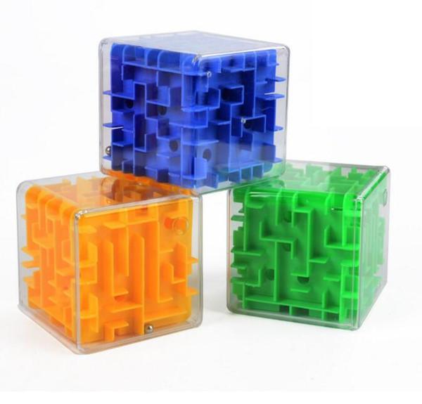 Novidade Brinquedo Cubo As Crianças Aprendem Brinquedos Educativos Labirinto Tridimensional Transparente Mármores Adultos Descompressão Intelectual Brinquedos Cubo Mágico