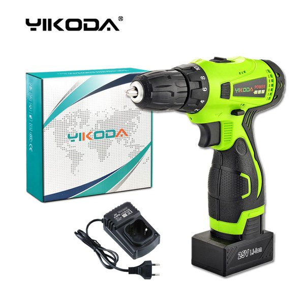 best selling 25V Cordless Drill Battery Screwdriver Home DIY Room Decoration Rechargeable Electric Drill One Lithium Battery Carton Free Shipping