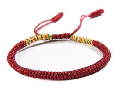 new Bohemian Brazil Cheap Colorful Rainbow Handmade Weave Woven Braided Rope Thin String Strand Friendship Bracelet