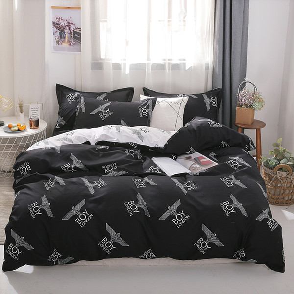 cartoon bedding set for kids duvet cover king queen size printing bed set home textiles bedclothes 3/4pcs xhs0157