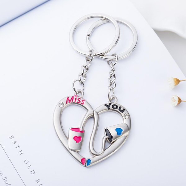 I LOVE MOM//DAD JEWELRY KEYCHAIN BAGS KEY HOLDER FOR FATHER MOTHER/'S DAY FADDISH