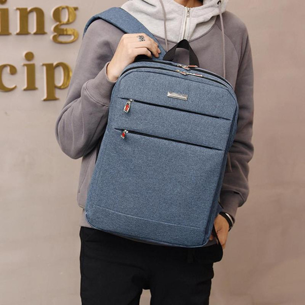 Waterproof Men Laptop Backpack Business Computer canvas shoulder Bag High Quality Women Bag Men's leisure Backpacks fashion male