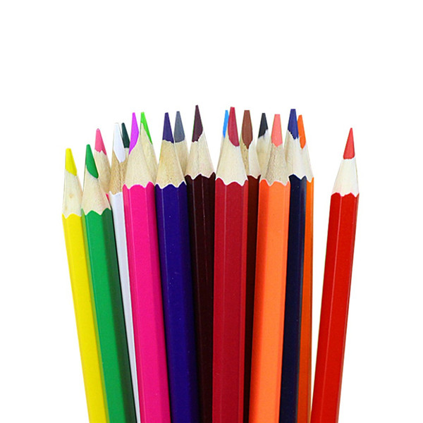 Wooden Pencils 12pcs/set Painting Oil Color Pencil Children Writing Stationery Drawing Sketch Standard Pencils Art Supplies A20