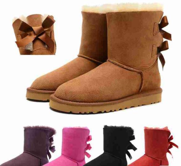 Frete grátis 32 Qualidade New 3280 Mulheres Clássico da Austrália ajoelhar Botas Ankle boots Preto cinza castanha marinha azul Mulheres menina botas EUA 5