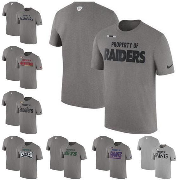 Washington Oakland Philadelphia Pittsburgh York Men Giants Jets Steelers Eagles Raiders Redskins Sideline Property Of Facility T-Shirt