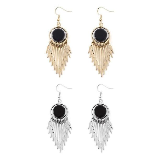 Gold/Silver color Tassel Earrings For Women Handmade Ear Hook Earring Boho Long Fringe Dangle Earings Ethnic Jewelry