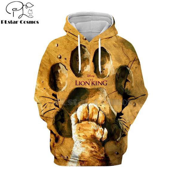 PLstar Cosmos Hot sell casual 3D hoodies/sweatshirts/shirt print the Lion King Simba Men/women's slim long sleeve streetwear-2