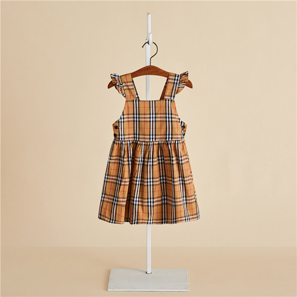 2019 kids clothes Children's Sling Dress Cool Holiday Girls Camisole Princess Dress