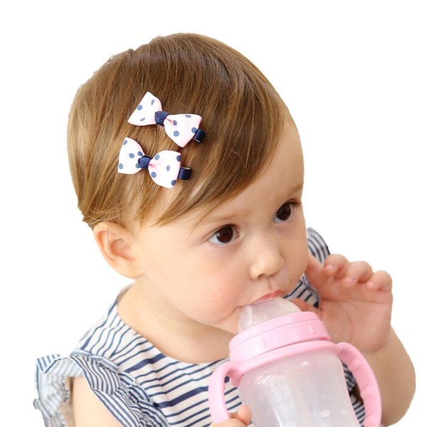 Jojo Siwa bows INS Hot Selling Baby Girls Hair Bows Barrettes Lovely Polka Dot Floral YOKI Kids Hair Accessories Baby Girl Hair Bows