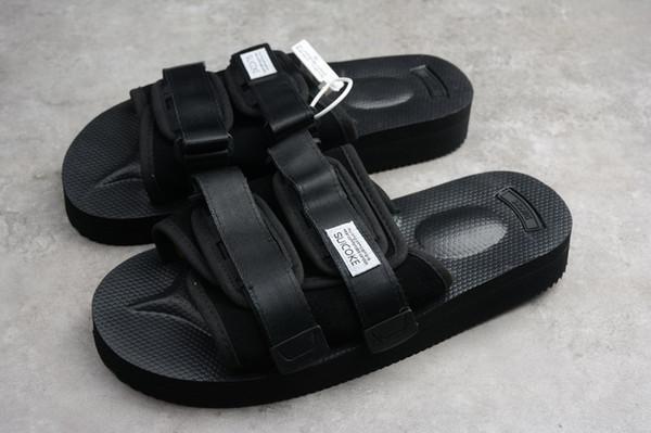 Top Quality CLOT X SUICOKE MOTO-VS/OG-056VS Summer Trip Fest Black Rubber Sole Slides Sandal SUICOKE KISEEOK-044V Slippers