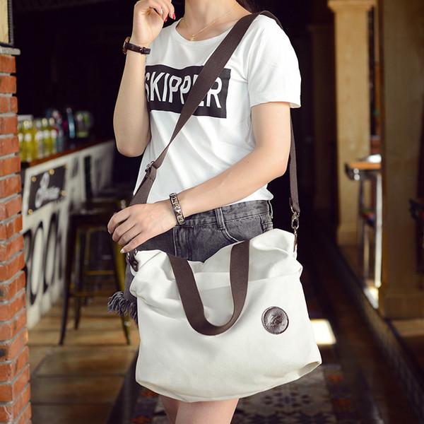 New 2019 Women Canvas Handbags Casual Crossbody Bag Women Large Capacity Handbag Brands Lady Big Shoulder Bags Female Tote Bolsa