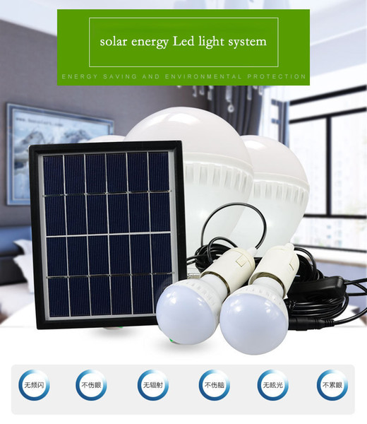 new arrival solar energy light control operating backyard house front power bank tents buble lamp
