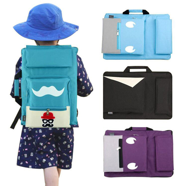 Kids Art Bag For Drawing Board Painting Set Travel 8k Sketch Bag For Sketching Canvas Painting Art Supplies For Children Artist Y19061804