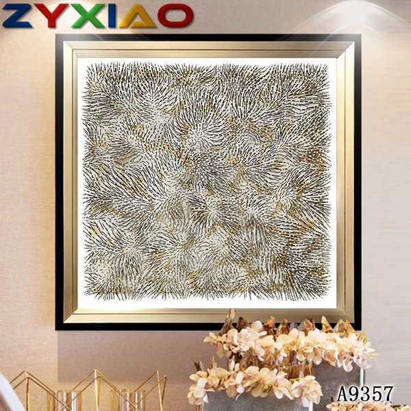ZYXIAO Big Size Oil Painting Art abstract straw flower Home Decor on Canvas Modern Wall Art No Frame Print Poster picture A9357