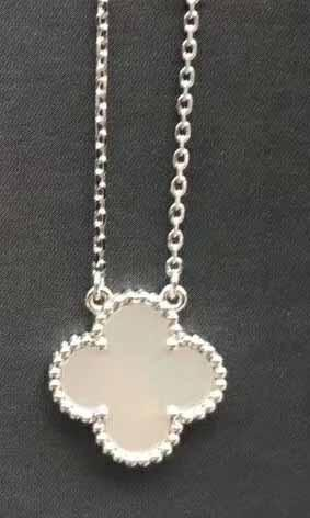 Platinum+white necklace