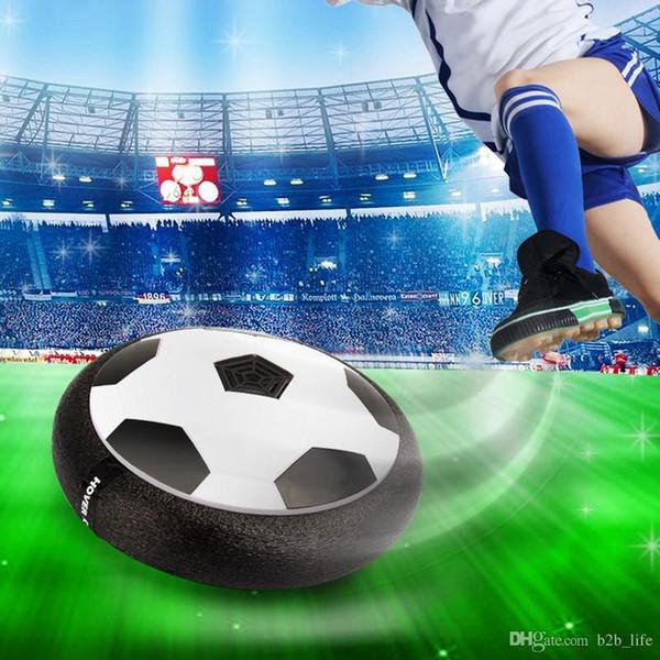 Suspensão de LED Esporte de Futebol Levitar Esporte de Bola Brinquedos de Futebol Air Power Soccer Para Pai-filho Brinquedo de Descompressão de Interação OA1842