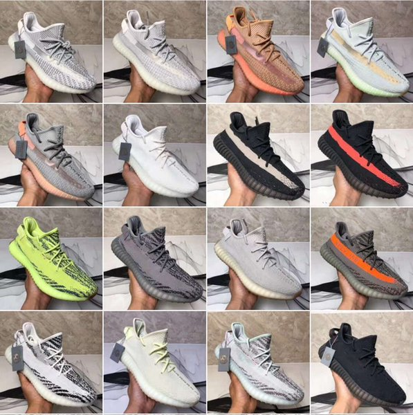 2019350 V2NEW Estático Arcilla Sésamo Forma verdadera Hiperespacio Hombres Mujeres Zapatos para correr Kanye West Beluga 2.0 Naranja Bred zapatillas deportivas tamaño 7-13