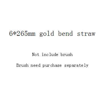 6 * 265mm الذهب منحنى القش