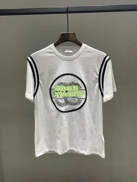 2019 neue Frauen Kausalen Pailletten Baumwolle Brief Kurzes T-Shirt Tops Bekleidung Hemd Hohe Qualität Anpassen Gedruckt Kurzarm Brief T