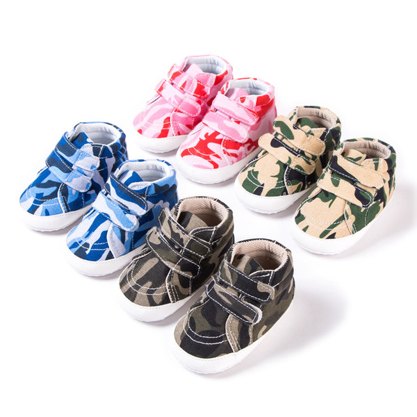 Canvas Baby First Walker Shoes Infant Toddler Girl Boy Walking Shoes Bebek Ayakkabi Camouflage Babies For Baby Girl Boy