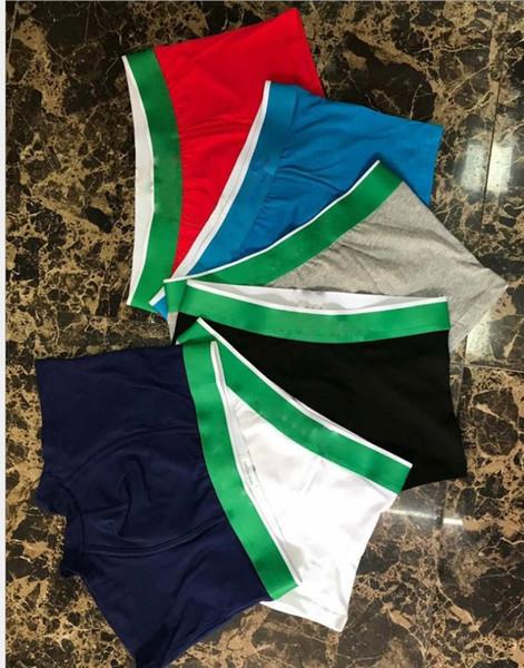 cuecas boxer de algodão venda dos homens quentes do crocodilo impressão masculinos cuecas boxer calças Underwear Branded Mix Cueca Cores W3620