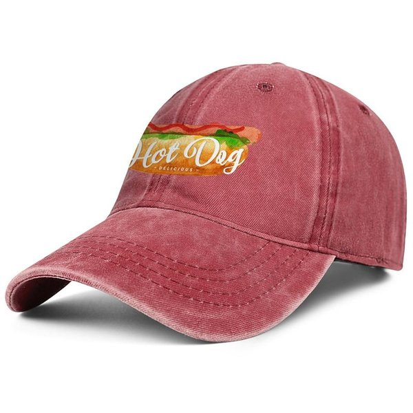 National Hot Dog Day man Sport Denim baseball hat printing adjustable women's sun cap vintage dad cap mesh hats