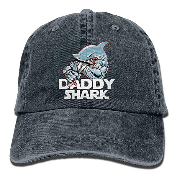 2019 New Custom Baseball Caps Print Hat High quality Daddy Shark Mens Cotton Adjustable Washed Twill Baseball Cap Hat