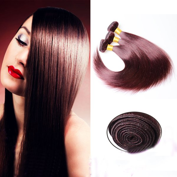 Peruvian real hair wig, 50g wine red real hair straight, soft silk, washable, high temperature resistance, high quality, mail-free