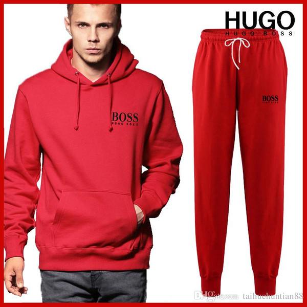 Yeni Moda İlkbahar Sonbahar Erkekler Sporting Suit Hoodies Pantolon Eşofman Iki Parçalı Set Erkekler Için Eşofman Spor Set Giyim