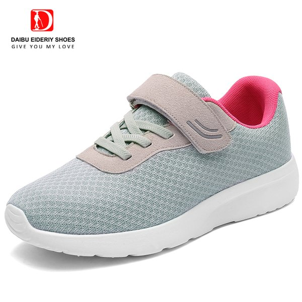 DAIBU 2019 Spring New Style Old People Shoes Non Slip Soft Sole Comfortable  Walking Woman Shoes Elderly Sneakers Sports Shoes Womens Shoes From
