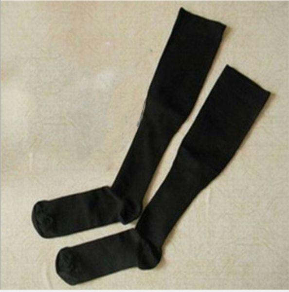 Gros-chaussettes de compression Bas pression varice genou Stocking haute jambe d'appui