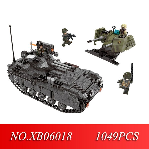 STAR 06018 Genuine 1049PCS Military Series The Armoured Vehicle Set Building Blocks Bricks Educational Toys As Children Gifts