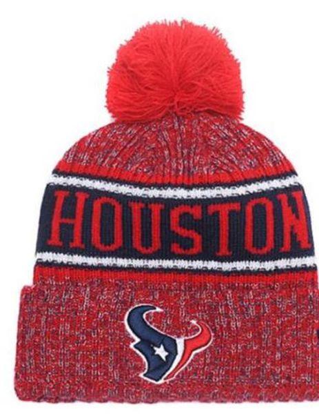 Venta al por mayor Deporte Sombreros de invierno Texans Stitched Team Logo Marca Hombres calientes Mujeres Venta caliente Gorros de punto Gorros mezclados baratos, sombrero del Snapback