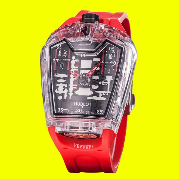 2019 New Fashion Ferrari Mens Watches High Quality Quartz Wristwatch Famous Watch the clocks with box