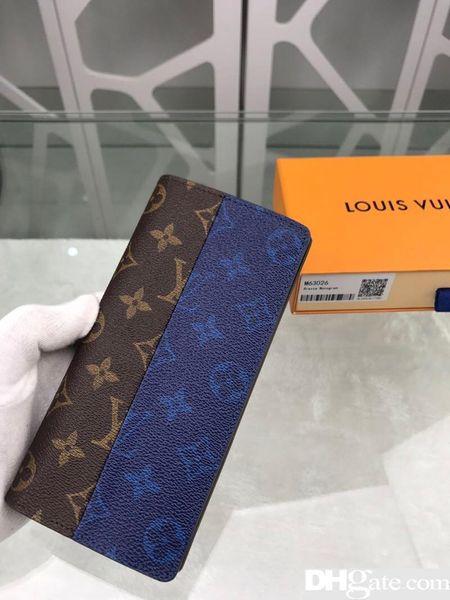 В 2019 году высокое качество, кожа, мода, высший сорт, мужчины и женщины - сумка, кошелек, сумка для карты, сумка для визитки, модель, M63027, размер 10cm19cm2cm