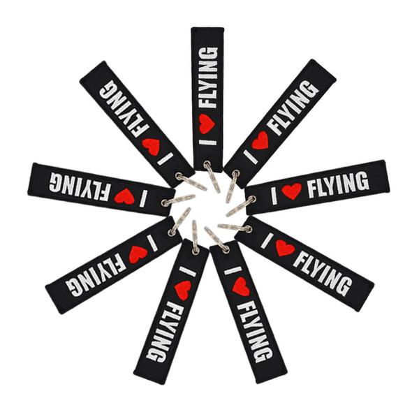 Авиалинии взлетно-посадочной полосы вышитые индивидуальный брелок черно-белый аэронавигационный Мемориал брелок я люблю летать талреп dhl быстрая доставка бесплатно