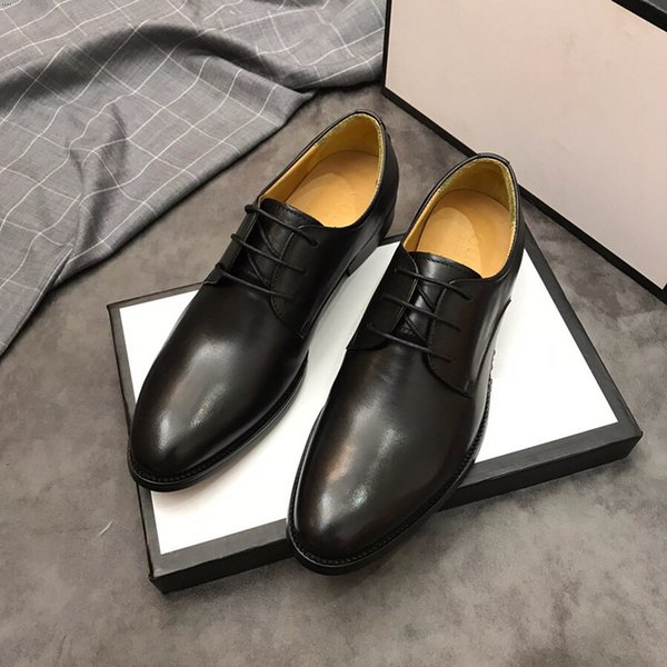 17 Style Italian Luxury Designer leather dress shoes Top Leather wedding party men shoes suede fashion loafers heel shoes size 38-45