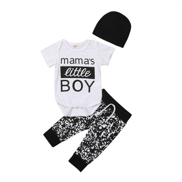 UK Baby Boys Girl Dinosaur Tops T-shirt+Long Pants+Hat Clothes Outfits Set 0-18M