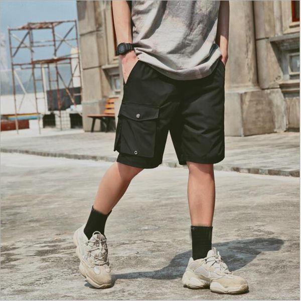 Men's Multi Pocket Cargo Shorts fashion Casual Knee Shorts Men Loose short pants Homme Summer Sweatpants