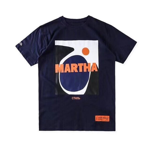 19SS новый цапля Престон вышивка письмо футболка Футболка мода повседневная Мужчины Женщины лето хлопок с коротким рукавом футболки