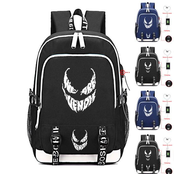 3f104c378671f8 Marvel Venom Laptop Bags Cosplay Comics Superhero Kids Teens Shoulder  Travel Bags Student School Bag