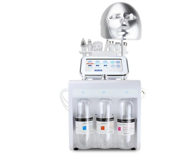 7in1 Hydro Dermabrasion Facial Machine Пилинг водой Алмазная микродермабразия Machine Уход за лицом Омоложение кожи светодиодная маска для лица