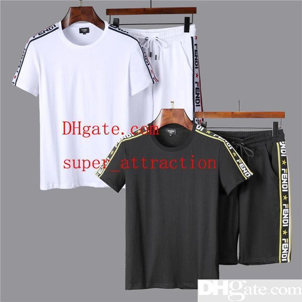 2019 Summer new suit men s short sportswear shorts T-shirt casual suit pants short-sleeved T-shirt Skull POLO TOP PP99
